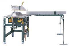 1603-NO Tischkreissäge 3,6 kW 400 Volt + 2. Steckdose + Zuführtisch 2000 mm inkl. Stopp + Bremse