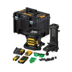 DCE080D1GS Rotationslaser Grün 18 Volt 2,0 Ah Li-Ion mit Bluetooth