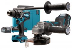DK0124G201 Kombo Set - DF001G Akku Bohrmaschine + GA005 Akku Winkelschleifer 40 Volt max. 4.0 Ah Li-Ion