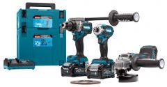 DK0125G301 Kombi-Set 40 V max. 4,0 Ah Li-Ion - DF001G Akku Bohrschrauber+ TD001G Schlagschrauber + GA005G Winkelschleiferin Makpac