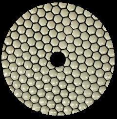 Diamant Polierscheibe trocken 125mm Buff weiß