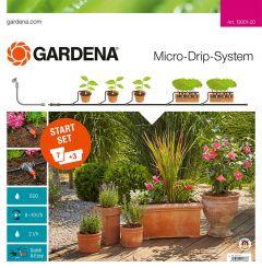 13001-20 Micro-Drip-System Start Set Pflanztöpfe M