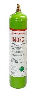 Kältemittel R407C, 1l, 40bar-Stahlflasche 170913