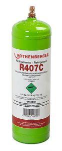 Kältemittel R407C, 2l, 40bar-Stahlflasche 170931
