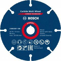Expert Carbide Multi Wheel Trennscheibe, 76mm, 10mm