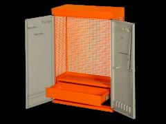 Zweitüriger Werkzeugschrank für Wandmontage, orange, 900mm×250mm×602mm 1495CD60