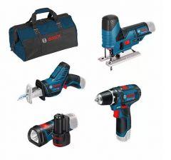 4 Toolkit GSR 12V-15 + GSA 12V-14 + GST 12V-70 + GLI 12V-80 - in Werkzeugtasche 0615990M06