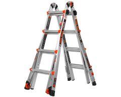Leveler telescopiche vouwladder 4 x 4 treden