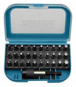 31-teiliges Bitset in Kunststoffbox mit Gürtelclip.